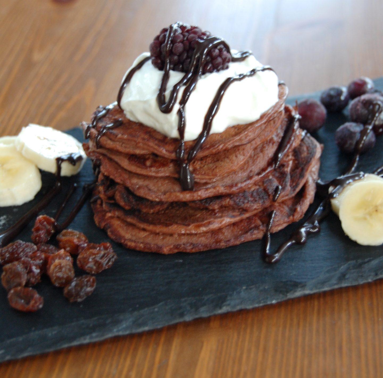 Chocolate Protein Pancakes!