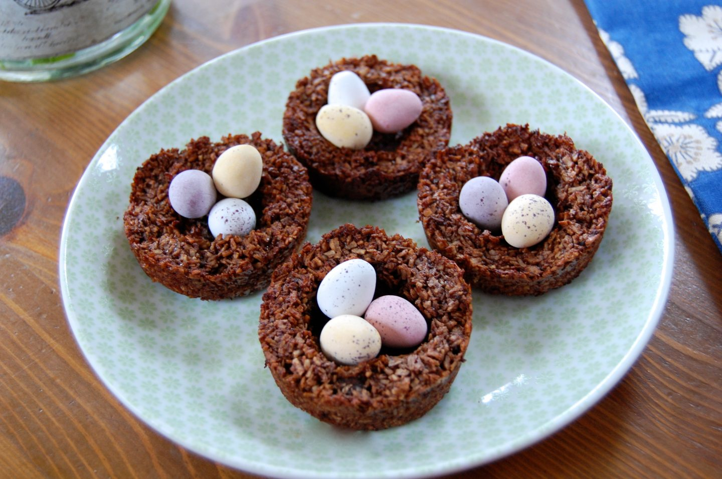 Healthy Easter Macaroon Nests with Mini Eggs!