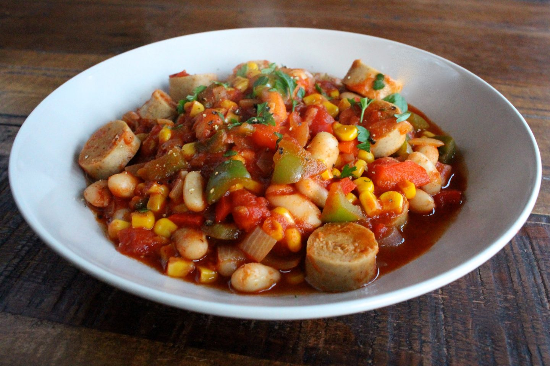 Bean & Meat Free Sausage Casserole – Gluten Free