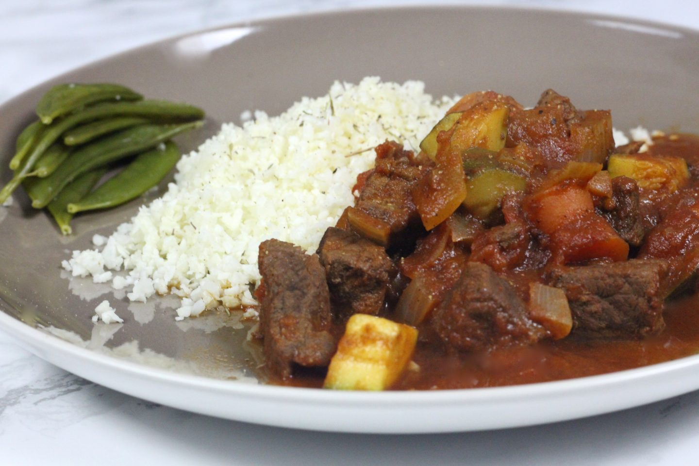 Beef & Vegetable Tagine with Cauliflower Rice