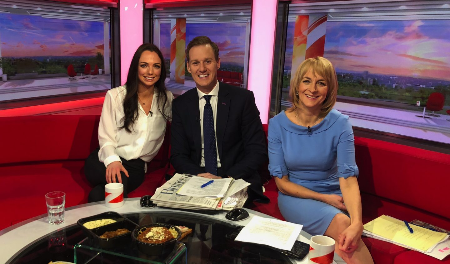 Live on BBC Breakfast talking about CALORIES!